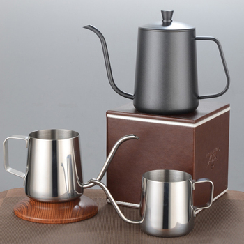 Stainless Steel Mounting Bracket Hand Punch Pot Coffee Pots Drip Gooseneck Spout Long Mouth Coffee Kettle Teapot 350ml
