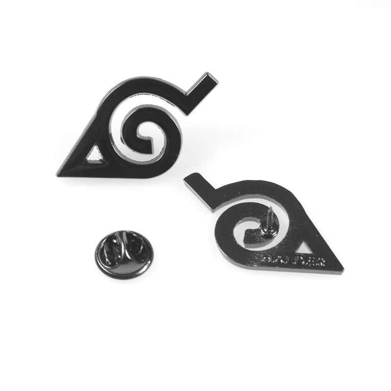 Naruto Akatsuki Nube Roja Kunai Shuriken esmalte Pins broche Cosplay accesorios aleación Uchiha Itachi Sharingan insignia