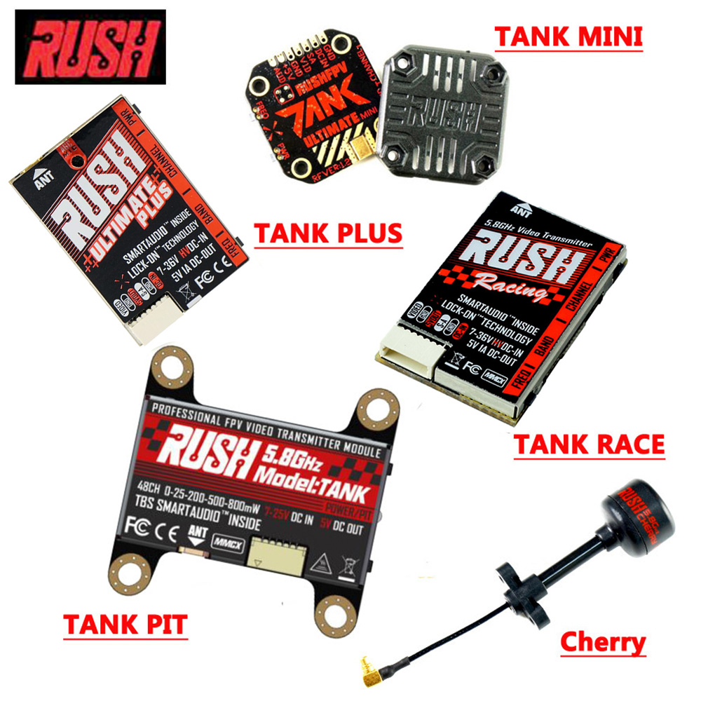 RUSH TANK ULTIMATE Mini TANK Plus TANK Pit VTX TANK Racing VTX 48CH Switchable FPV Transmitter VTX Antenna For FPV Racing Drone