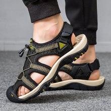 Sandali estivi in tela uomo 2021 Outdoor Beach Trekking scarpe sportive in gomma uomo traspirante a piedi nudi escursionismo sandali scarpe Casual