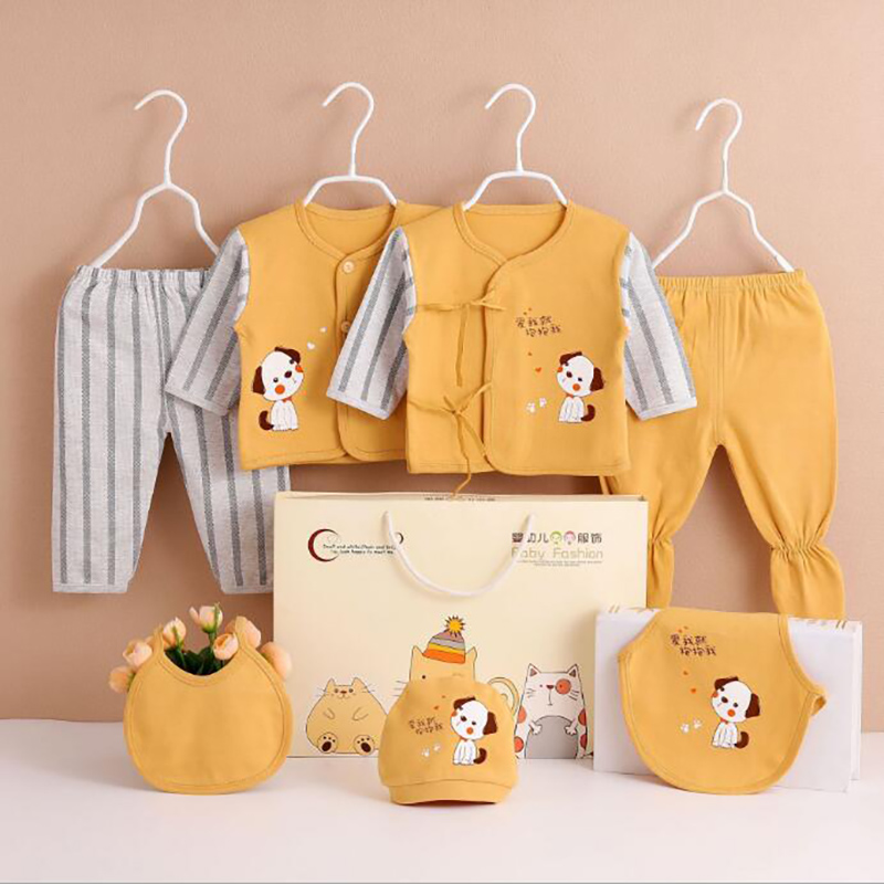 0-3M Newborn Clothing Sets For Baby Girls Boys Clothes Suits Cotton OUTFITS 7pcs/set MORE 20 STYLES
