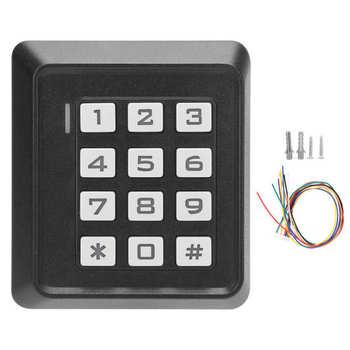 Kontrola dostępu do hasła kontrola dostępu do drzwi Systerm karta hasła podświetlana klawiatura 125KHZ do drzwi wejściowych Wiegand26 Secutity tanie i dobre opinie CN (pochodzenie)