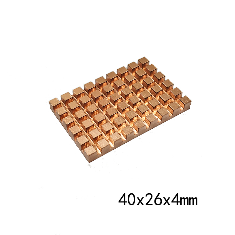 Copper Heatsink Thermal Conductive Adhesive For M.2 NGFF 2280 PCI-E NVME SSD 4mm