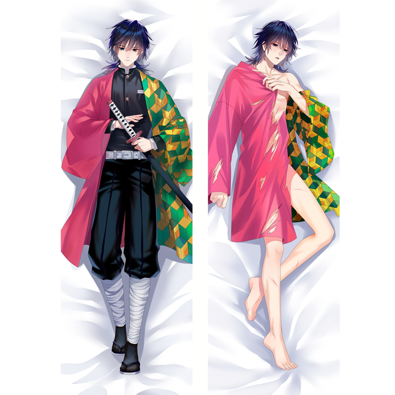 Japanese Anime Dakimakura Demon Slayer: Kimetsu No Yaiba Hugging Body Pillow Case Tomioka Giyuu Male Otaku Costume Cover BL Gift