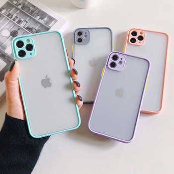Shockproof Phone Case Back Cover For iPhone 11 Pro Max X XS Max XR SE 2020 Luxury Translucent Case For iPhone 8 7 6 6s Plus Case image