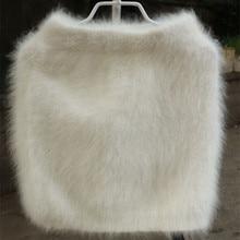 2020 New Winter Slim Sable Knitting Mink Cashmere Skirt  Warm Short Skirt Women Customized  free shipping JN267