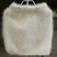 2020 nowa zimowa szczupła Sable Knitting norek z kaszmiru spódnica ciepła, krótka spódnica kobiety dostosuj za darmo wysyłka JN267
