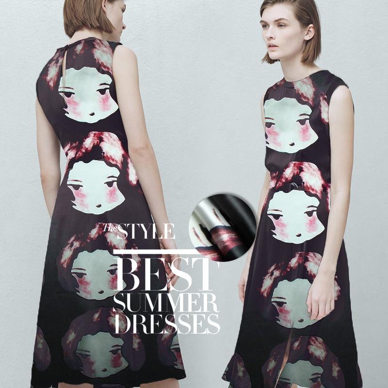 Girls Printed Silk 100% Fabric Dress Handmade Diy Clothing Fabric