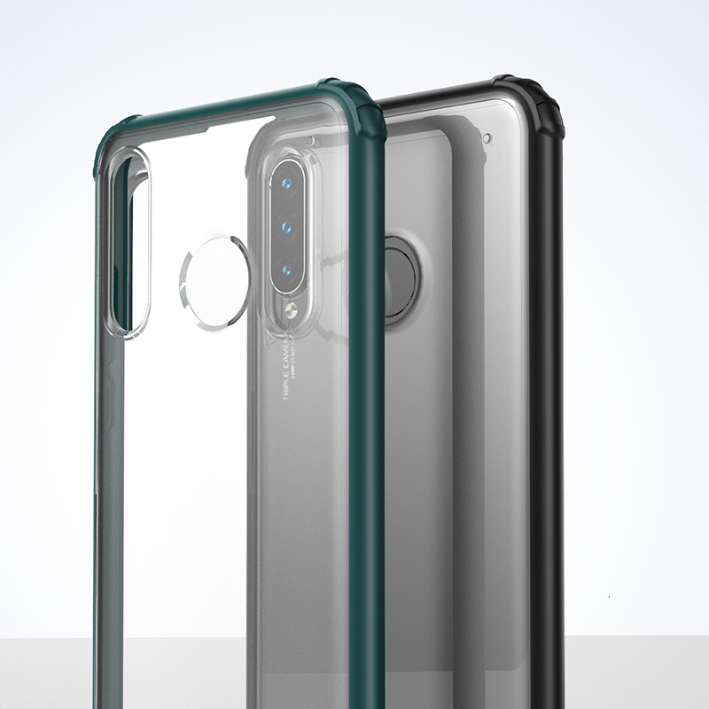 Luxe Case Voor Huawei P30 Lite P30 Pro Coque Funda Transparante Shockproof Silicone Cover Voor Huawei P30 hard shell