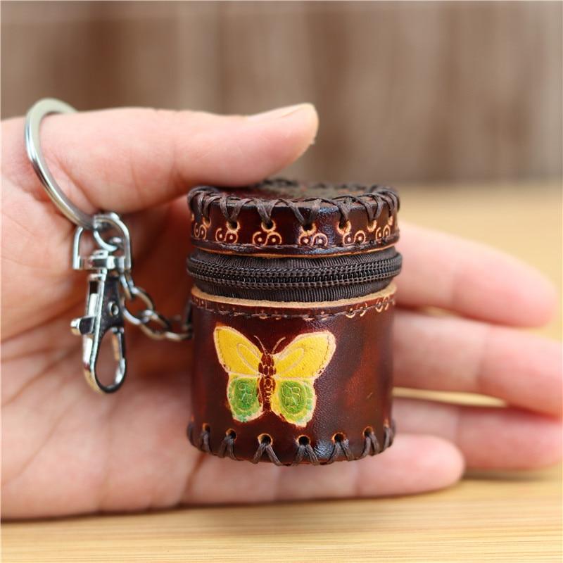2020 New Product Creative Small Bucket Bag Pendant Jewelry Box Storage Box Bluetooth Headset Mini Bag Seal U Disk Leather Bag Zi