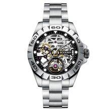 Boderry Stedelijke Mannen Fashion Horloges Luxe Automatische Mechanische Lichtgevende Waterdicht Roestvrij Staal Mannelijke Klok Relogio Masculino