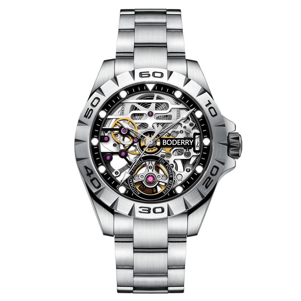 Top Brand Luxury Men's Watches Automatic Mechanical Luminous Waterproof Stainless Steel Watch Men Male Clock Relogio Masculino|Mechanical Watches| - AliExpress