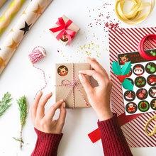 10 листов Рождественское украшение Круглая Бумажная наклейка
