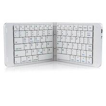 Rii K09 Mini clavier Bluetooth espagnol pliable en cuir, pour iphone, téléphone android, tablette et ipad