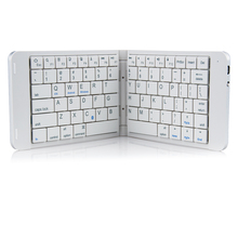 Rii K09 przenośna skórzana składana Mini Bluetooth hiszpańska klawiatura składana na iphonea, telefon z androidem, Tablet,ipad,PC
