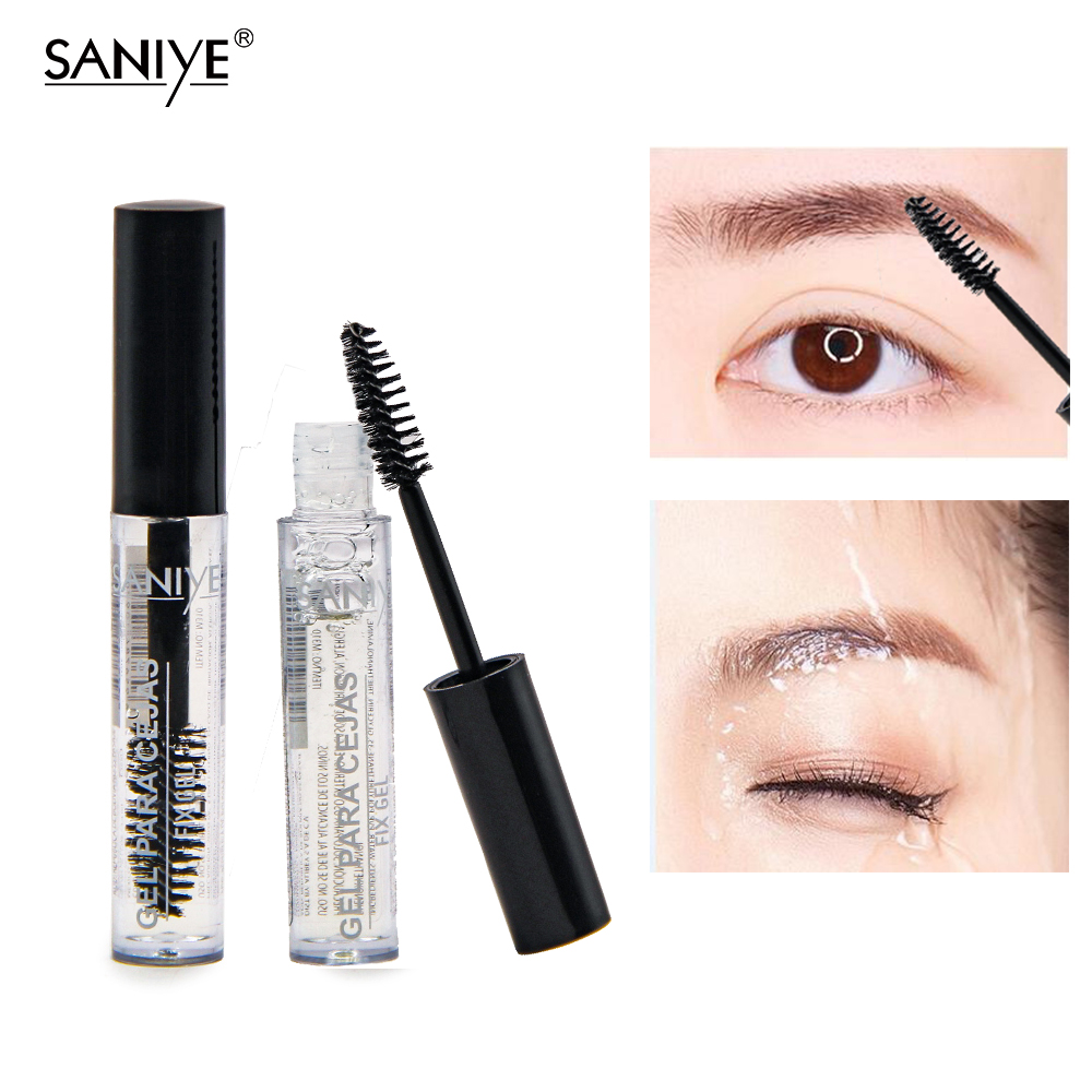 SANIYE Cosmetics Clear Eyebrow Gel Waterproof Transparent Eyebrow Fixed Gel Long Lasting Eyelash Fix Gel Para Cejas