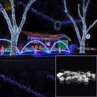 ICOCO 6Mx3M 600LEDs Icicle LED Curtain String Fairy Light AC220V Home Party Wedding Christmas Decoration Curtain Lights