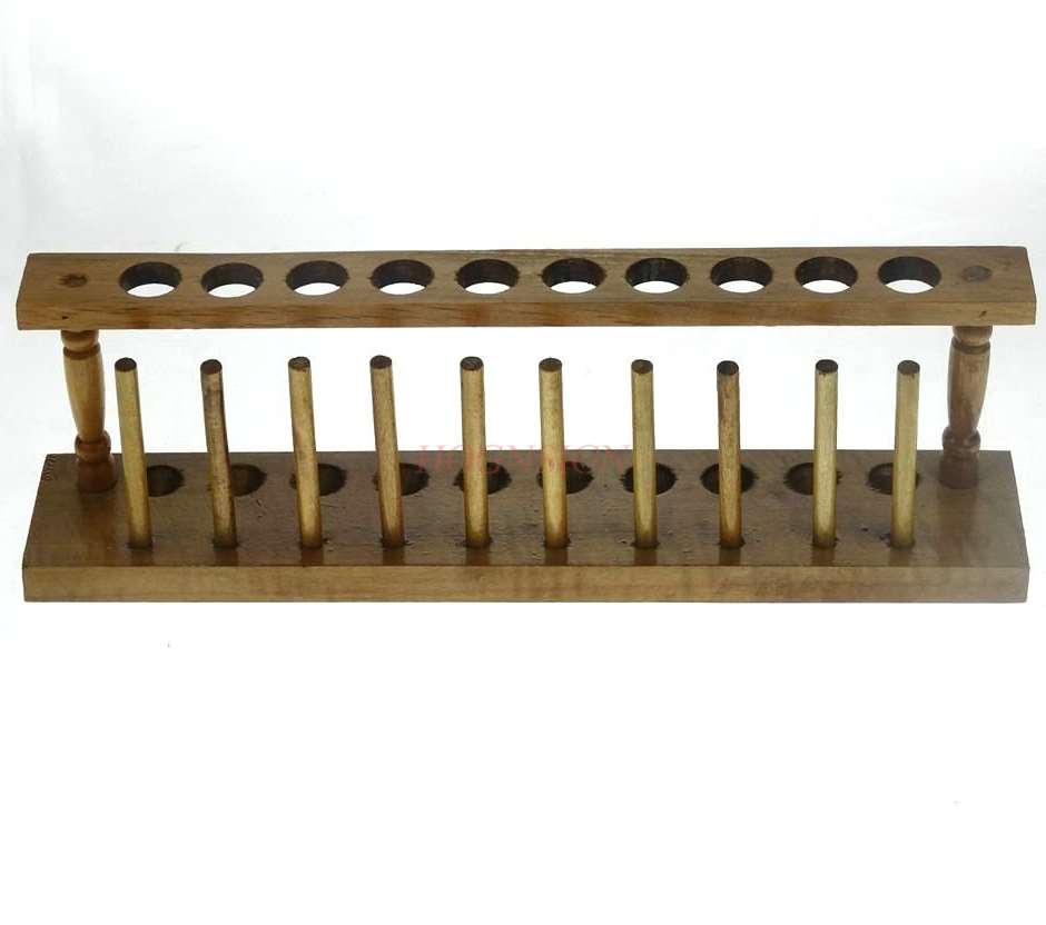 Wooden test tube rack 10 hole diameter 20mm wooden wooden test tube rack chemical laboratory supplies consumables