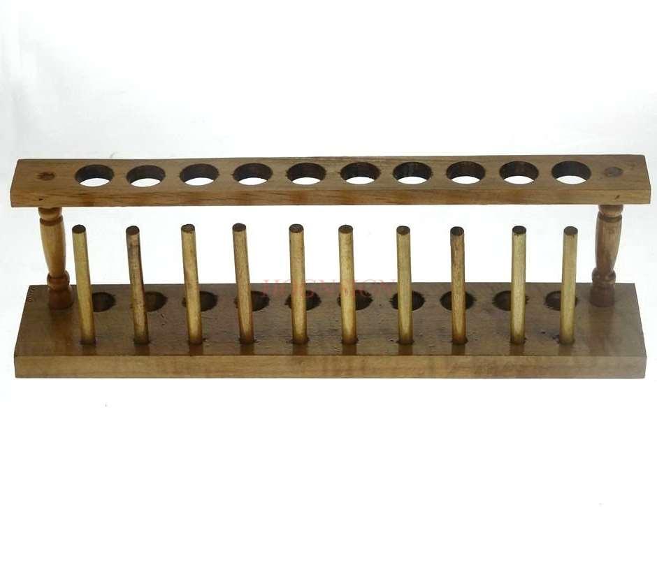 Wooden test tube rack 10 hole diameter 20mm wooden wooden test tube rack chemical laboratory supplies consumables Pakistan