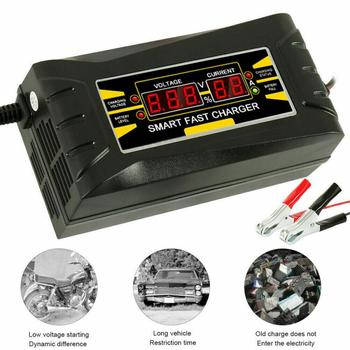 Car Motorcycle 12V 10A Pulse Repairing Battery Charger US Plug/EU Plug/UK Plug With LCD Display Lead Acid Battery Charger image