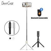3 in 1 Wireless Bluetooth Selfie Stick pieghevole Mini treppiede monopiede espandibile con telecomando intelligente per iPhone IOS Android