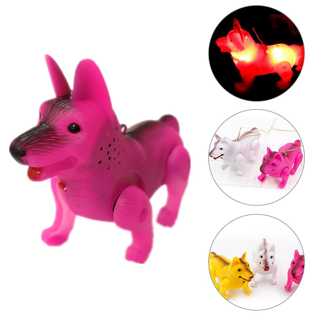 Electronic LED Light Luminous Music Dog Funny Robot Pet Children Toys Electric Walking Dog Educational Toys For Kids Children