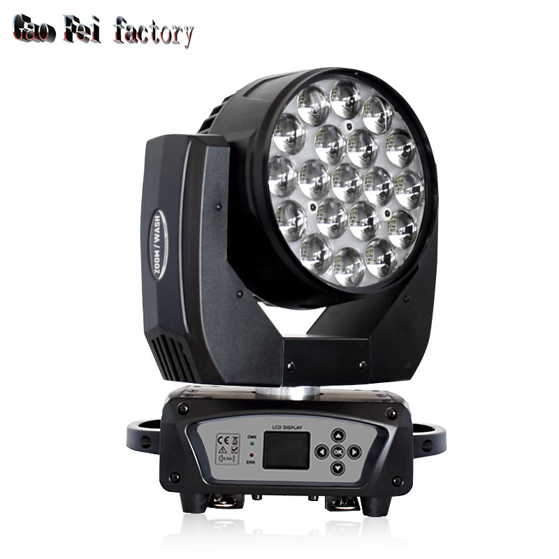 Led Moving Head Lights High Power Led RGBW 4in1 19X15 Zoom Wash By Dmx Control For DJ Stage Lighting