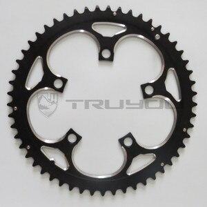 "Image 3 - TRUYOU yol bisiklet zinciri tekerlek BCD 110 53T 39T çift disk aynakol katlanır bisiklet aynakol alüminyum çift hızlı CNC 3/32"""