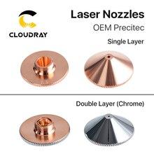 Cloudray Лазерная насадка с одним двойным слоем диам. 28 мм Калибр 0,8-6,0 P0591-571-0001 для Precitec WSX волоконная Лазерная режущая головка