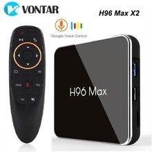 H96最大X2アンドロイドテレビボックス9.0 4ギガバイト64ギガバイト1080 1080p H.265 4 18k googleの店youtube H96MAX 2G16Gスマートtvboxセットトップボックス