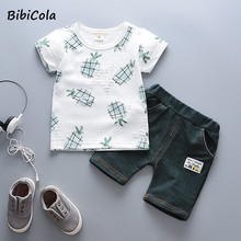 Baby Boy Clothes Sets Summer Children Casual Outfits Toddler Baby Boys Cotton T-shrit+shorts 2pcs Suits Baby Boys Tracksuits