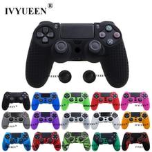 IVYUEEN 25 цветов Противоскользящий силиконовый чехол для sony playstation Dualshock 4 PS4 DS4 Pro тонкий контроллер и ручка