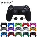 IVYUEEN 25 colores antideslizante funda de silicona para Sony PlayStation Dualshock 4 PS4 DS4 Pro controlador delgado y agarre de palo
