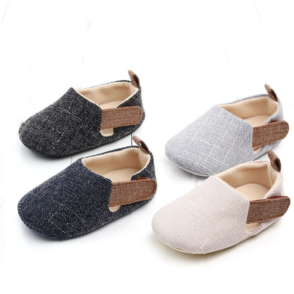 Baby Boys Girls Plaid Shoes Toddler Booties Newborns Sole Classic Floor 0-18 Months Soft Infant New Arrival First Walkers