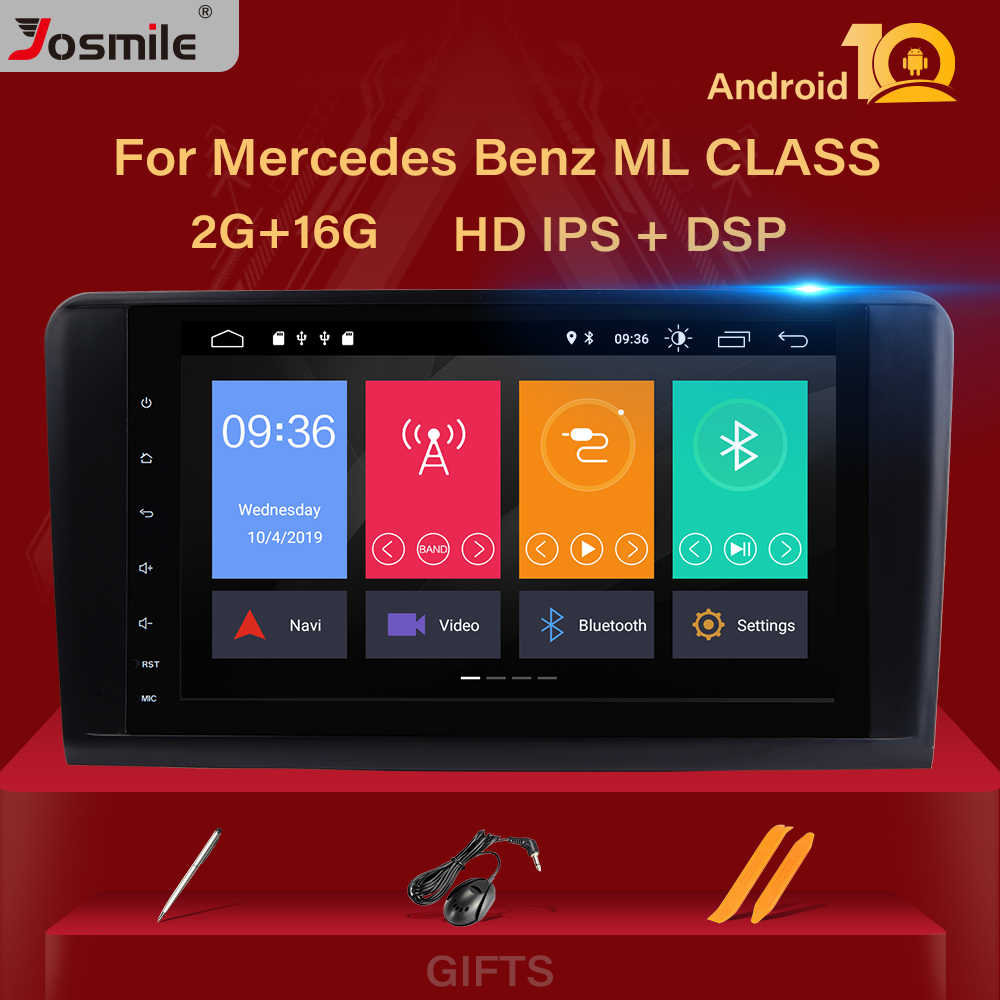 Ips DSP Android 10 Mobil Radio Player untuk Mercedes Benz ML W164 ML350 ML500 X164 GL320 GL Gps Navigasi Stereo SWC DVR Kamera