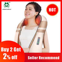 JinKaiRui U Shape Electrical Shiatsu Body Shoulder Neck Massager Back Infrared 4D kneading Massage Car Home Best Gift HealthCare