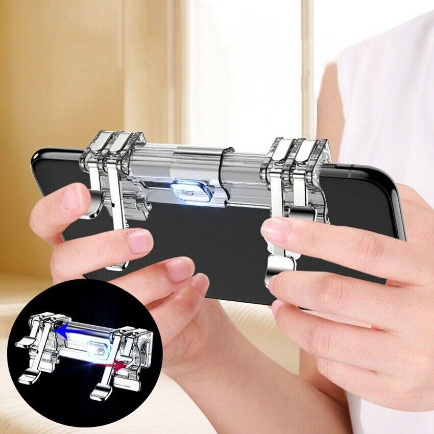 Мобильный триггер PUBG, геймпад, контроллер чувствительного сенсорного режима L1R1, кнопка стрельбы, рукоятка, триггер, кнопка прицела, джойсти...