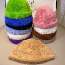 Hats Docker Fisherman Winter Women for Skullcap Beanie-Hat Retro Brimless Melon Cap-Cuff