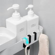 Rotating Tripod Corner Shower Shelf Bathroom Shampoo Shower Shelf Holder Home Kitchen Storage Rack Organizer Wall Mounted Type