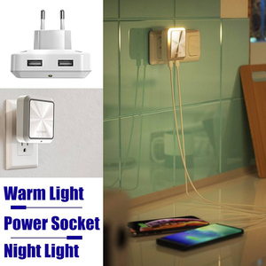 Image 5 - BlitzWolf BW LT14 DC 5V 2.4A Plug in Portable Smart Lighting Sensor LED Night Light Dual USB Charging Eu Plug Smart Socket