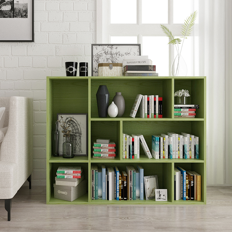 easy bearing bookcase bookshelf five lattice grid ark combination to receive ark small wooden cabinet store content ark
