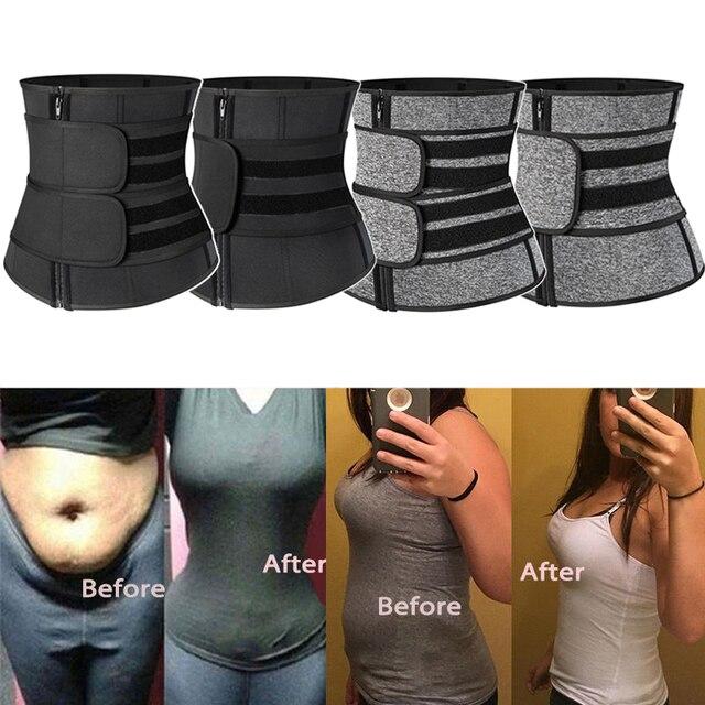 Women Body Shaper Belt Waist Trainer Neoprene Sweat Shapewear Slimming Sheath Belly Reducing Shaper Workout Trimmer Belt Corset 1