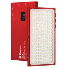 Luz de vídeo led com YB K10 lâmpadas, luz de bolso para câmera, lâmpada de vídeo 180 leds high cri 3200k 5600k, fotografia lâmpada para sony nikon dslr