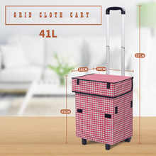 E-FOUR Car Trolley Hand Cart with Wheels Bigger Smart Cart Victorian Collapsible Rolling Utility Cart Basket Grocery Shopping цены онлайн