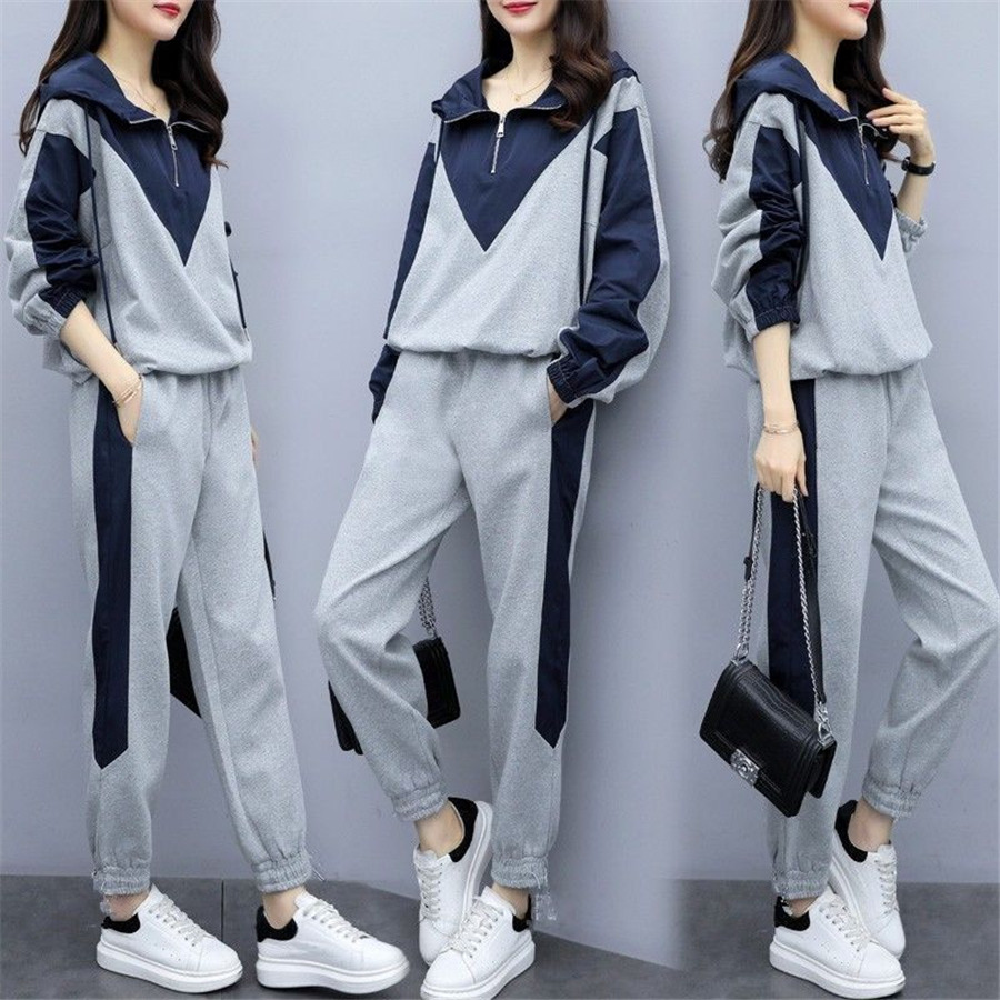 2019 New Casual Tracksuit For Women Two Piece Set Hoodies Tight Sportswear  Running Sports Suit For Women Suits QE71