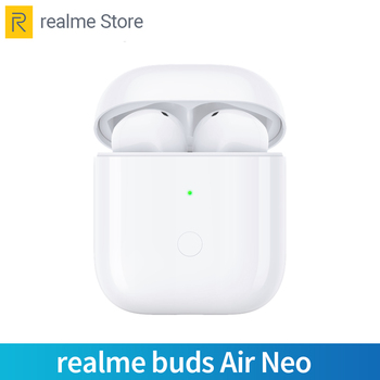 Перейти на Алиэкспресс и купить Беспроводные наушники realme Buds Air Neo Bluetooth 5,0 TWS True Wireless R1 Chip для realme X2 Pro X50 Pro 6 6i 6 Pro