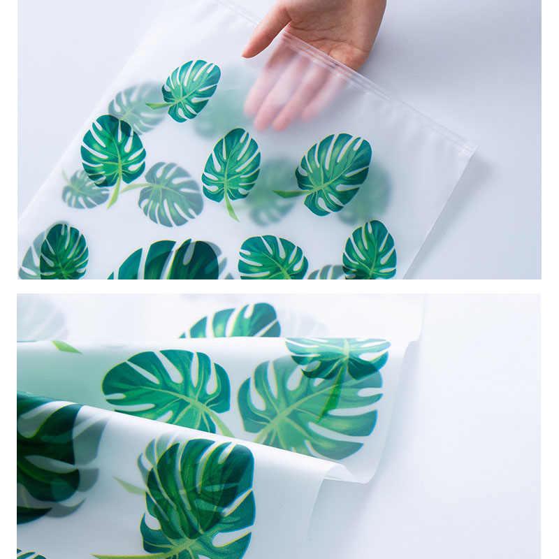 Translucent print Storage Bags Set Portable EVA Waterproof Packaging Pocket 5 pcs Travel Clothing bra cosmetic shoes Organizer