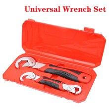 Universal Wrench Set Chrome Steel Key Wrench Kit Hand Tool Ratchet Spanner Wrench Adjustable Spanner Car Repair Socket Tool Set