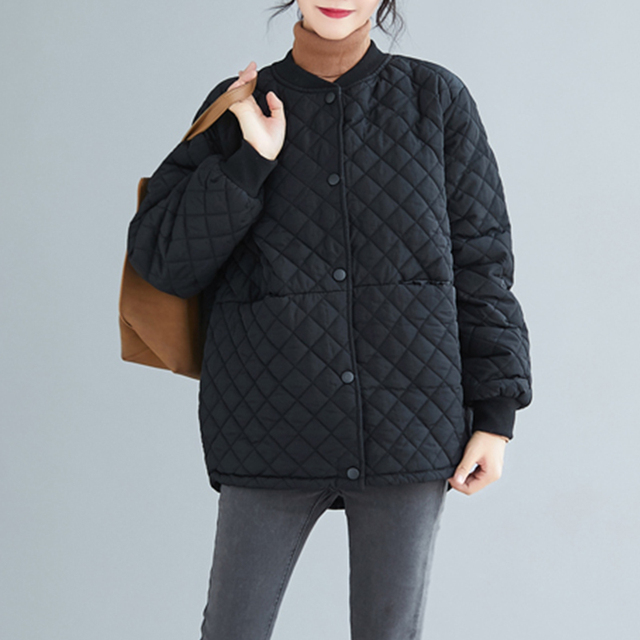Aransue 2020 New Cotton Padded Coat Thickened Baseball Collar Jacket Short Design Outer Garment For Female Autumn Winter Top 2