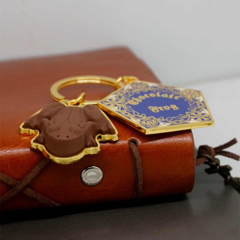 Hogwarts escola de bruxaria e magia chaveiro pingentes colar gryffindor clássico moda chaveiro jóias acessórios